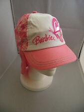 BNWT Girls Pretty Pink/White Flower Barbie Legionnaire Sun Safe Cap Size 51cm