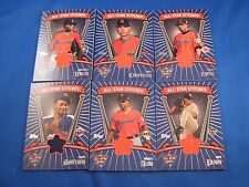 Lot of (6) 2005 Topps Update All-Star Stitches Relic Jersey Cards All Different