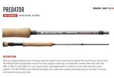 New listing New Redington Limited Edition Predator Sea Spray 8 Wt Fly Rod 890-4 @ Only $1 Nr