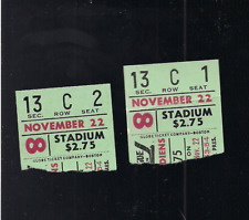 HOCKEY NHL BOSTON BRUINS VS MONTREAL CANADIENS TICKET STUBS, NOV-22ND-1975??