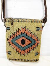 Hand Bag Crossbody Style Tapestry Jacquard Weave Diamond Arrow Pattern