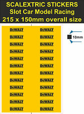 Slot car Scalextric sticker Model Race DeWALT tool Logo decal adhesive vinyl YT2
