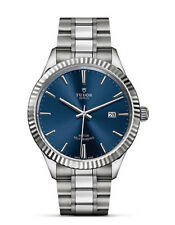 100% AUTHENTIC NEW TUDOR STYLE BLUE DIAL 41mm STEEL MENS WATCH M12710-0013
