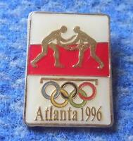NOC POLAND OLYMPIC ATLANTA 1996 WRESTLING PIN BADGE
