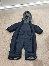 Mothercare Boys Hooded Fleece Lined Snowsuit 3-6 Months VGC
