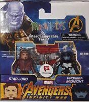 WALGREENS Marvel Minimates AVENGERS INFINITY WAR Star Lord and Proxima Midnight