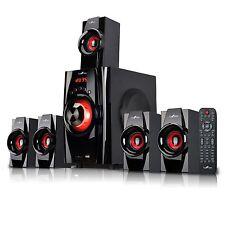 beFree Sound BFS-410 5.1 Channel Surround Sound Bluetooth Speaker System - Red