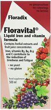 Floradix Floravital Yeast And Gluten Free Liquid Iron and Vitamin Formula 500ml