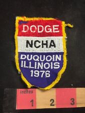 Vtg As-Is Bad Condition DODGE NCHA DUQUOIN Illinois 1976 Patch 80X6