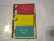 """ECCOLO 3-PIECE LUGGAGE TAG Gift Set  """"Vacation Mode,Power Trip, Excess Baggage"""""""