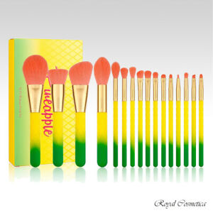 Docolor Pineapple Professional High Quality Makeup Brushes - 16pc