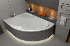 Badewanne Eckwanne 150 160 170 x 100 Ablauf LED Styropor links rechts GRATIS