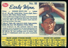 1962 POST CEREAL CANADIAN BASEBALL #55 Early Wynn vg-ex Chicago White Sox