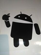 Android eats Apple car decal/sticker for laptop,van, or car,bumper, window