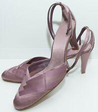 Clarks Satén Púrpura Sandalias Tacones Zapatos Talla 6 Reino Unido