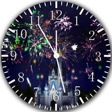 Disney Castle Frameless Borderless Wall Clock Nice For Gifts or Decor Z86