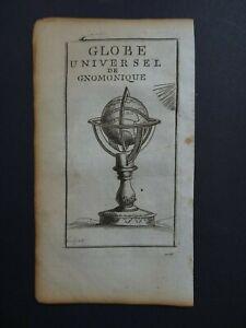 1801 Atlas FAURE map World Globe Universel de Gnomonique