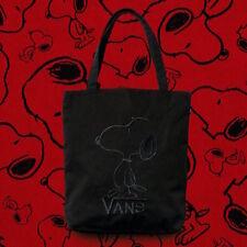 Vans X Peanuts Snoopy Black Cotton Canva Small Tote Shopper Bag