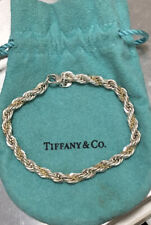 Authentic Tiffany & Co Ladies 18k Yellow Gold & Sterling Silver Rope Bracelet
