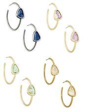 New Authentic KENDRA SCOTT Gold Silver Blue Multi Margot Hoop Earrings Abalone