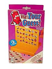 Vtg Travel Board Game What's Your Guess? 1992 Complete 2 players Family Holiday