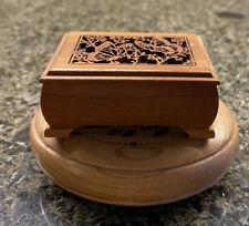 New ListingLot Lasercraft Walnut Miniature Music Boxes