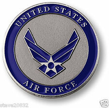 "NEW USAF U.S. Air Force Adhesive Medallion 1 3/4"". 60779."
