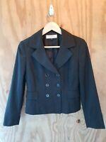 TAHARI ARTHUR S. LEVINE Women's Blazer Long Sleeve Button Front Striped.Size 4P