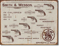 Smith & Wesson - Revolvers  Metal Tin Sign Wall Art  Free Shipping