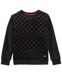 Sean John Big Kid Boys Quilted Velour Sweater Black XL