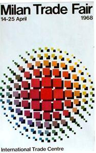 Original vintage poster MILAN ITALY INT.TRADE FAIR 1968