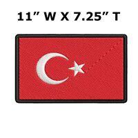TURKEY FLAG embroidered iron-on PATCH TURKISH EMBLEM Türkiye Cumhuriyeti NEW