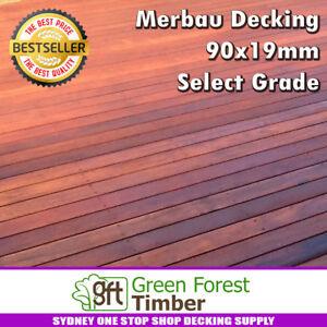 Merbau Decking 90x19mm Select Grade. SPECIAL $5.95/LM. Random Length Sydney area