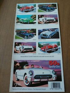 USPS 50s Sporty Cars Stamps, Book Of 20 37 Cent