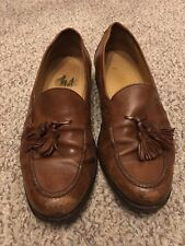 VTG Johnston & Murphy Cellini Brown Tassel Loafers Men's US 8 M - Italian Shoes