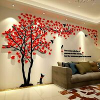 Large Family Tree Wall Decals 3D DIY Acrylic Wall Stickers Mural Home Decor HOT
