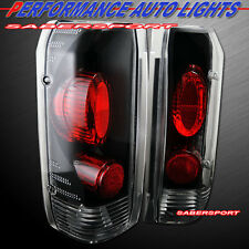 Set of Pair Black Taillights for 1989-1996 Ford F-150 F-250 F-350 Bronco