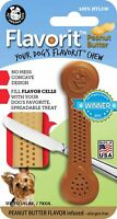 Pet Qwerks Flavorit Peanut Butter Flavor Infused Nylon Chew- Fillable Surface