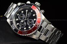 Invicta Men's 43mm Pro Diver Red Coke Bezel Black Dial Silver Screw Down Watch
