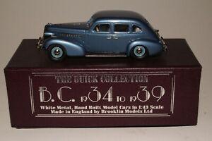 Brooklin Models 1937 Buick Special Plain Back 4 Door Sedan With Box, 1/43 Scale