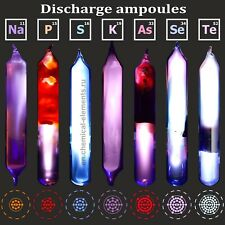 Unique discharge ampoules with all the elements