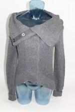MODA International Women's Size XS Wool Blend Shrug Neck Button Front Sweater