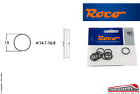 ROCO 40071 - H0 1:87 - Set 10 anelli aderenza ricambio gommini ruote 14,7/16,5mm