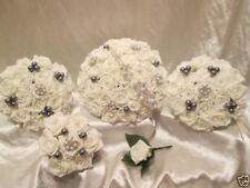 Silver Artificial Wedding Bouquets