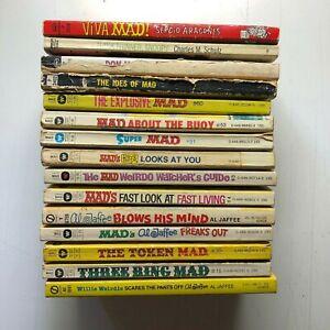 Lot of 15 Mad Magazine Paperback Books Al Jaffee Dave Berg Sergio Aragones