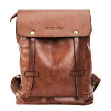 Vintage Men Women Leather Backpack Messenger Bag Satchel Laptop Travel Rucksack