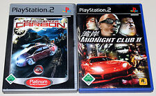 2 PLAYSTATION 2 SPIELE BUNDLE - NEED FOR SPEED CARBON & MIDNIGHT CLUB II - PS2