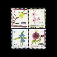 Botswana, Sc #389-92, MNH, 1986, Flowers of the Okavango Swamps, A5FEAIcx