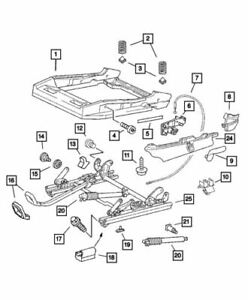 2004-2007 CHRYSLER CROSSFIRE MANUAL SEAT ADJUSTER OEM MOPAR GENUINE 5099560AA