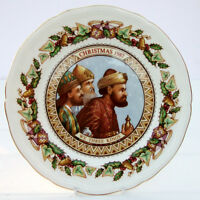 Vintage Aynsley Fine Bone China Christmas Carols Plate 1987 We Three Kings